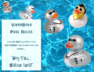 Pool rules banner